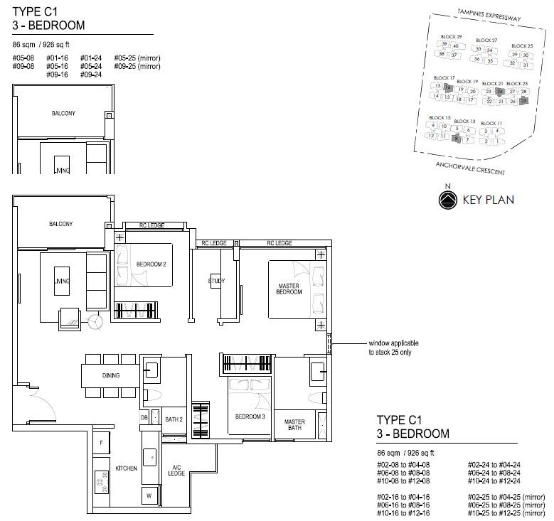 Bellewaters EC Floor Plan C1