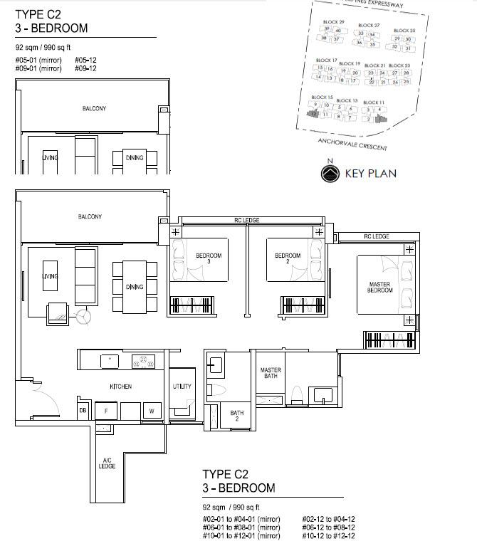 Bellewaters EC Floor Plan C2