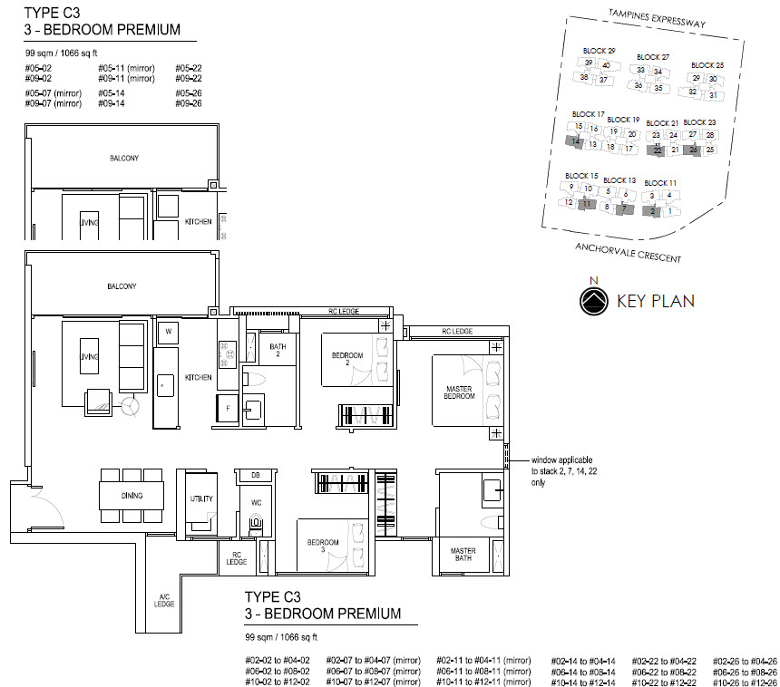 Bellewaters EC Floor Plan C3