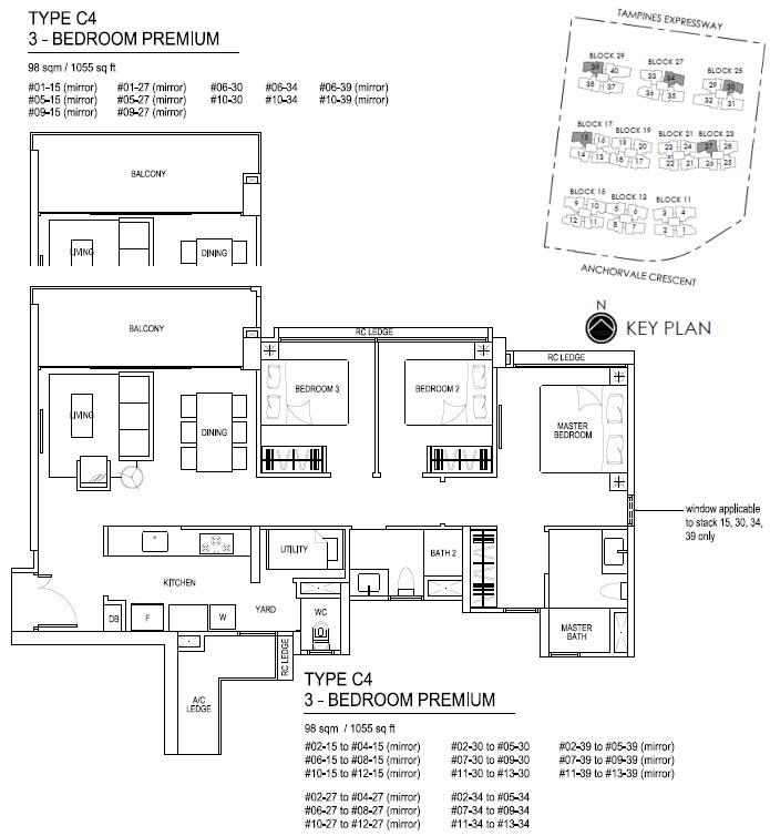 Bellewaters EC Floor Plan C4