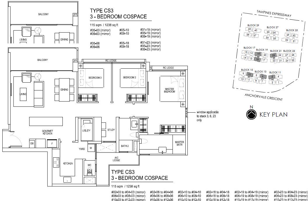 Bellewaters EC Floor Plan CS3