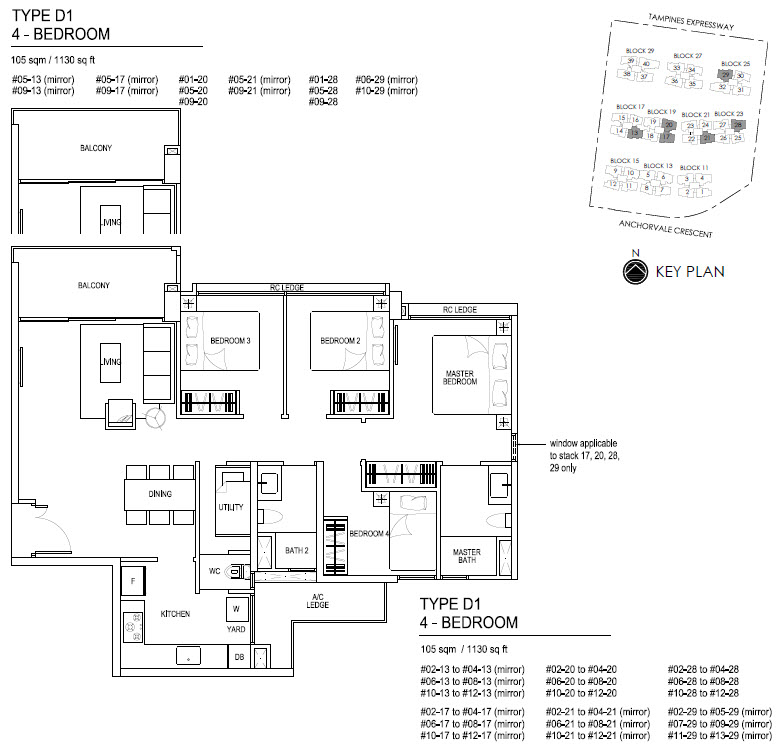 Bellewaters EC Floor Plan D1