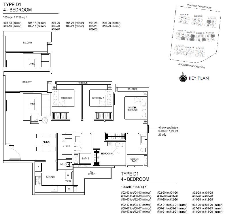 Bellewaters EC Floor Plan D1