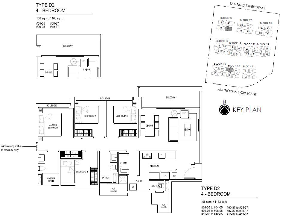 Bellewaters EC Floor Plan D2